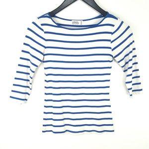 Zara Organic Cotton 3/4 Sleeve Shirt Size S